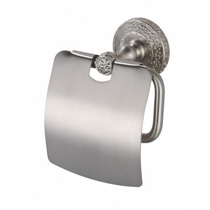 Бумагодержатель с крышкой для ванной комнаты ZorG AZR 08 SL