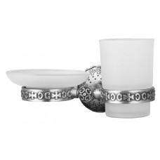 Держатель мыльницы и стакана для ванной комнаты ZorG AZR 21 SL