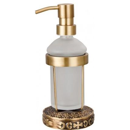 Держатель дозатора мыла настольный для ванной комнаты ZorG AZR 25 BR