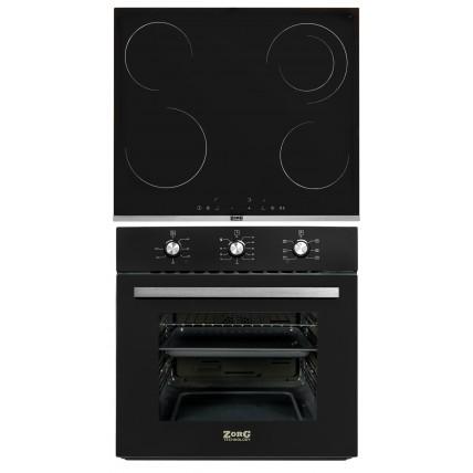 Комплект духовой шкаф ZorG Technology BE6 black + варочная панель ZorG Technology MS 163 black