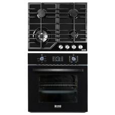 Комплект духовой шкаф ZorG Technology BE10 LD black + варочная панель ZorG Technology BLC FDW black