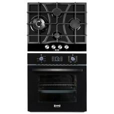 Комплект духовой шкаф ZorG Technology BE10 LD black + варочная панель ZorG Technology CLC FDW black