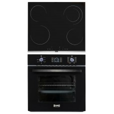 Комплект духовой шкаф ZorG Technology BE10 LD black + варочная панель ZorG Technology MS 163 black