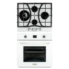 Комплект духовой шкаф ZorG Technology BE10 LD white + варочная панель ZorG Technology CLC FDW white