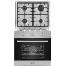 Комплект духовой шкаф ZorG Technology BE6 inox + варочная панель ZorG Technology BP5 FD inox