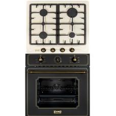 Комплект духовой шкаф ZorG Technology BE6 RST EMY bl + варочная панель ZorG Technology BP5 D rcr EMY